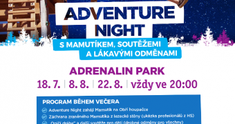 Adventure Night v Adrenalin parku